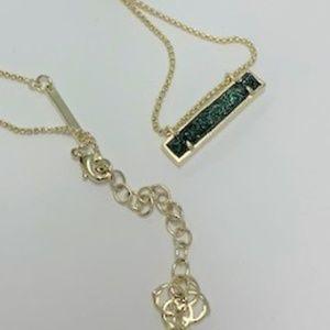 Kendra Scott Leanor Pendant Necklace-Sage
